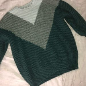 Shades of Green Sweater